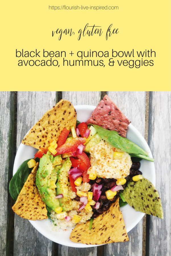 black bean + quinoa bowl